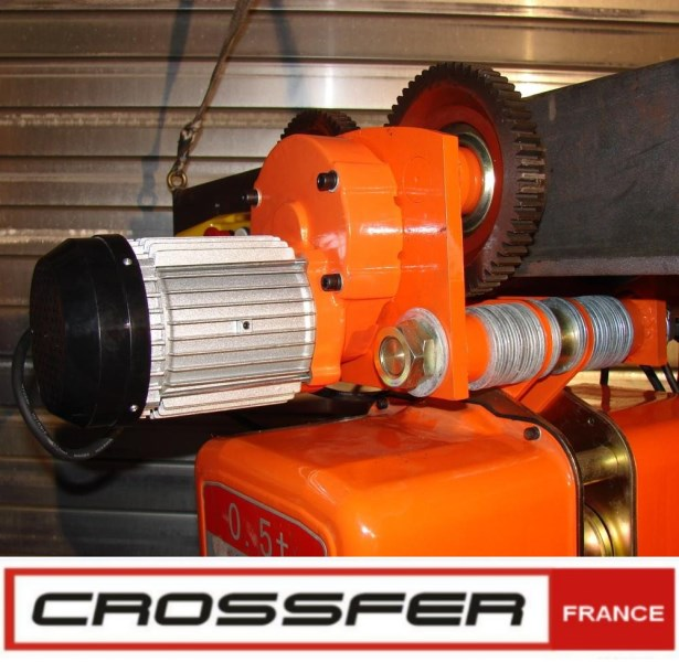 CHARIOT ROULANT COMBINÉ PALAN A CHAINE 500 KG HHDD-H05-220V