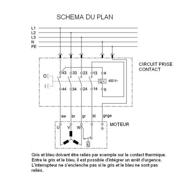 COMMANDE ELECTRIQUE 220V 380V 16A +