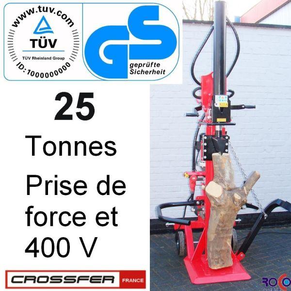 FENDEUSE LS 25T PTO PRISE DE FORCE + MOTEUR 380V
